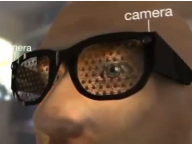 Óculos «Assisted Vision» (Reprodução / Youtube / BBC / Stephen Hicks)
