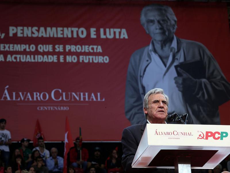 PCP assinala centenário do nascimento de Álvaro Cunhal com comício no Campo Pequeno, em Lisboa (LUSA)
