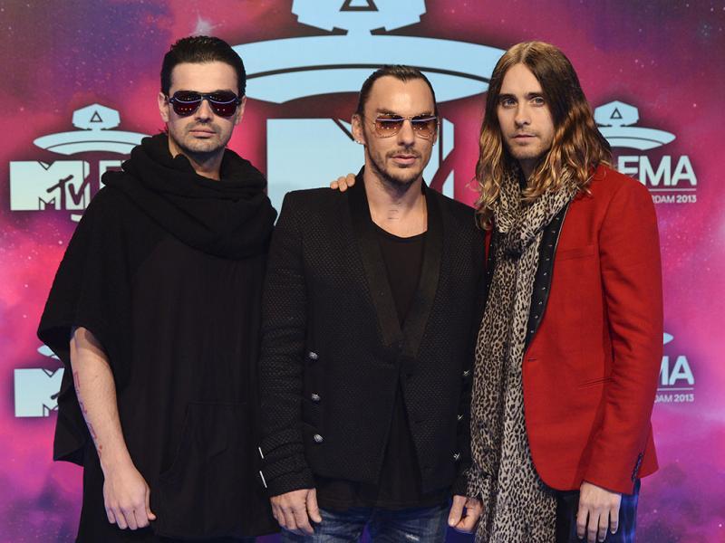 Thirty Seconds to Mars na passadeira vermelha MTV Europe Music Awards (Reuters)