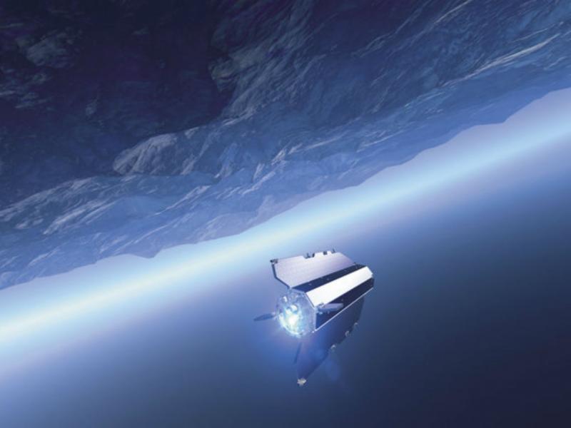 GOCE a caminho da Terra (Foto Divulgação ESA)