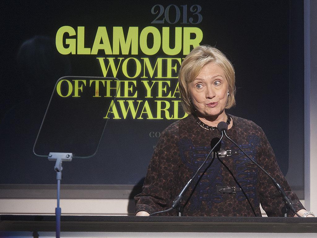 Hillary Rodham Clinton na gala Mulheres do Ano 2013 da revista «Glamour» (Reuters)