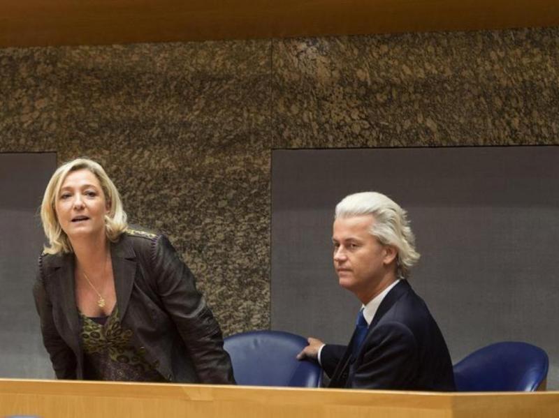Marine Le Pen e Geert Wilders [Reuters]