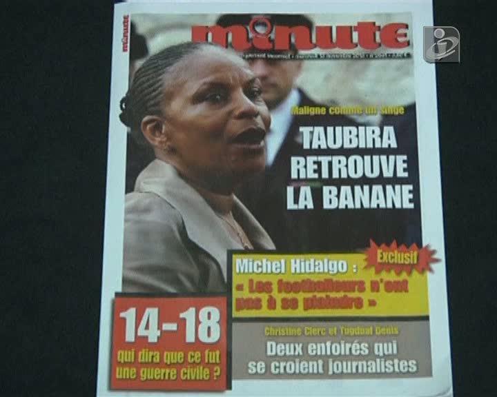 Revista extremista compara ministra francesa a um macaco