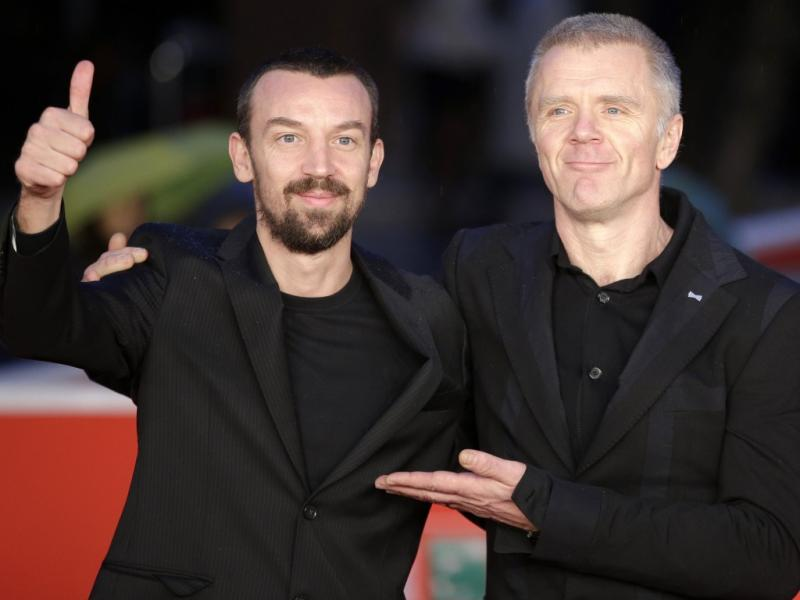 Alberto Fasulo e Branko Zavrsan no Festival Internacional de Cinema de Roma (Reuters)