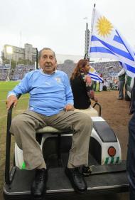 Ghiggia: herói de 50 deu sorte ao Uruguai