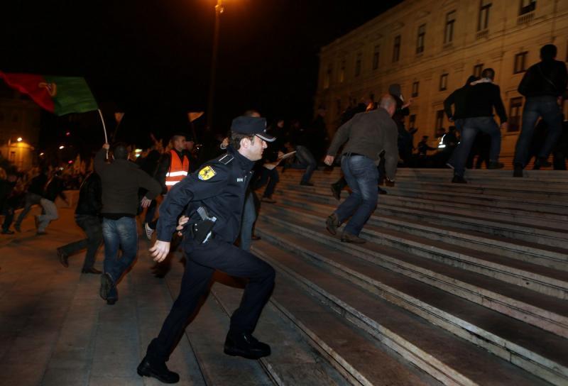 Manifestação de polícias (Lusa)