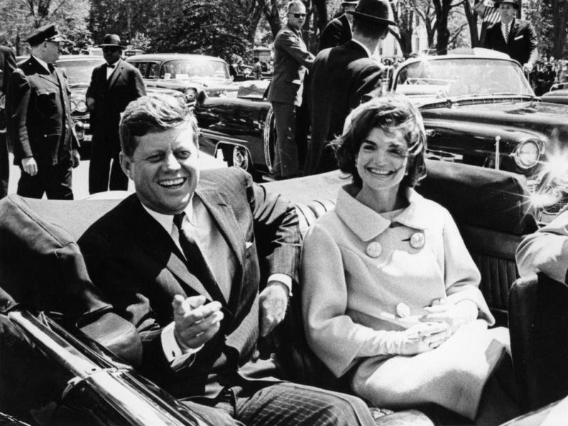 John F. Kennedy e a mulher (Reuters)