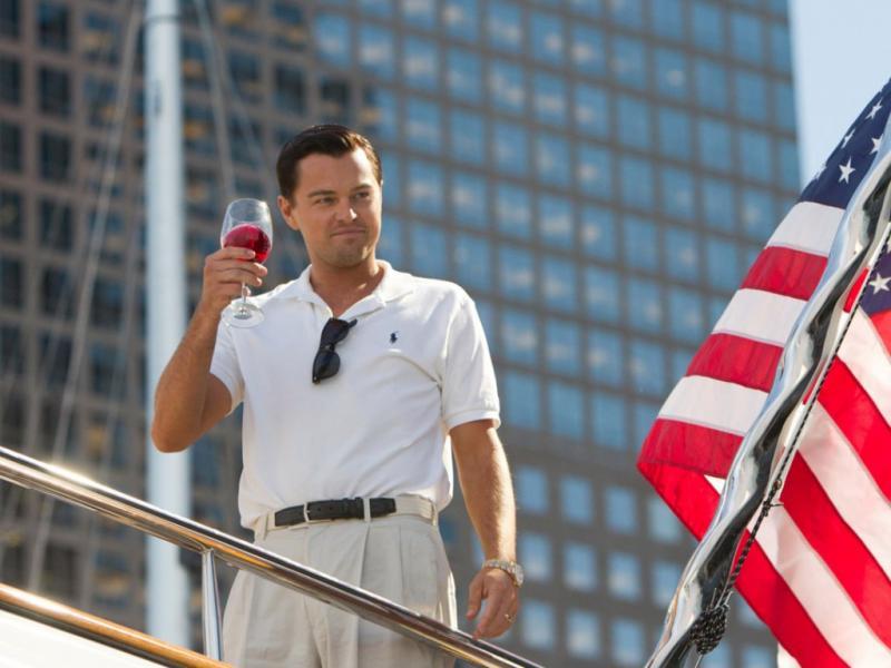 Leonardo DiCaprio em «O Lobo de Wall Street»