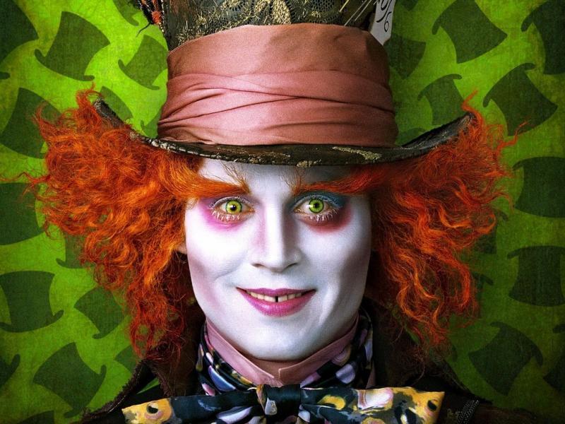 Johnny Depp em «Alice no País das Maravilhas»