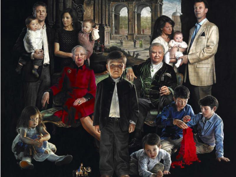 Retrato da família Dinamarquesa [Foto: Evan Frederiksen/Søofficers Foreningen]