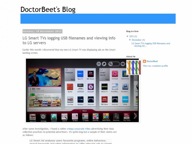 Lg recebe queixa sobre Smart TV (reprodução / DoctorBeet )
