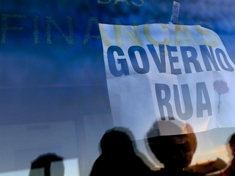 Ocupação do Ministério das Finanças (Lusa)