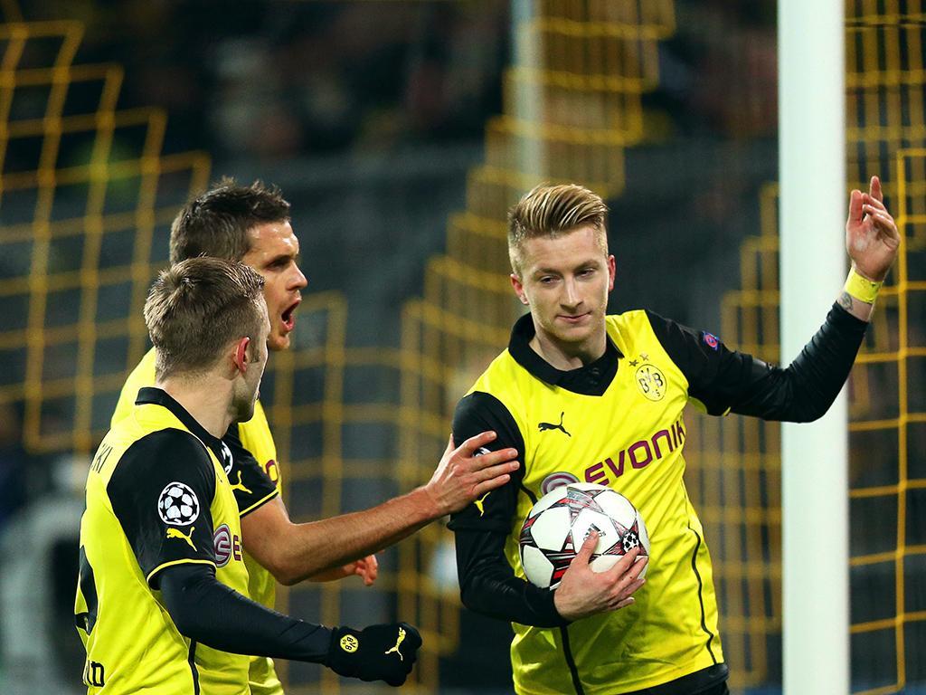 Borussia Dortmund vs Nápoles (EPA)