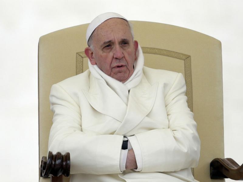 Papa em manhã de muito frio no Vaticano (Lusa)