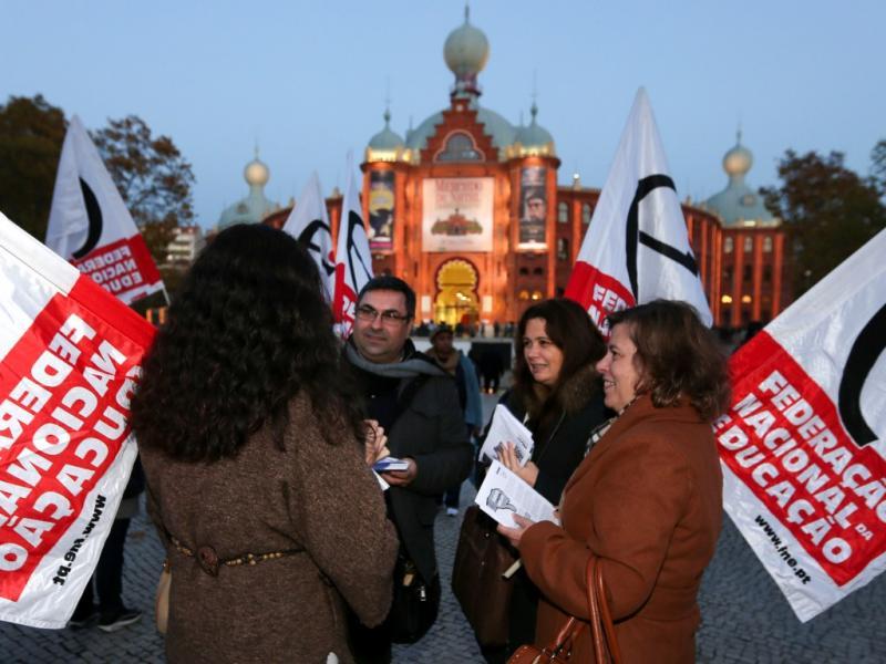 Concentração de professores em Lisboa [LUSA]