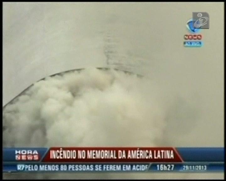Grande incêndio no centro de São Paulo