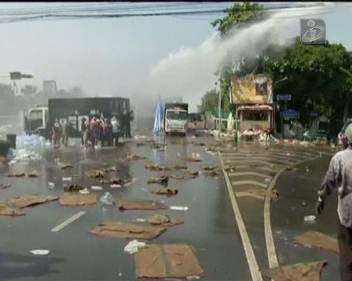 Milhares de pessoas nas ruas de Banguecoque