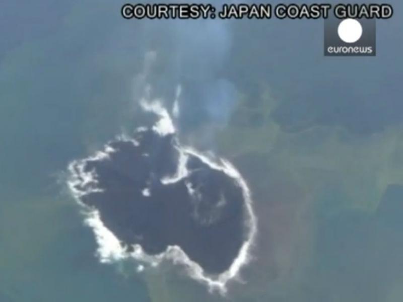 Nova ilha descoberta no Japão continua a crescer (Reprodução Youtube/Euronews)