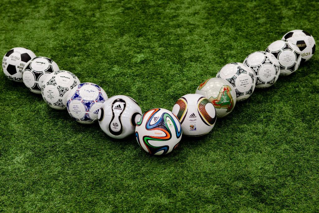 Todas as bolas Adidas nos Mundiais (Adidas)