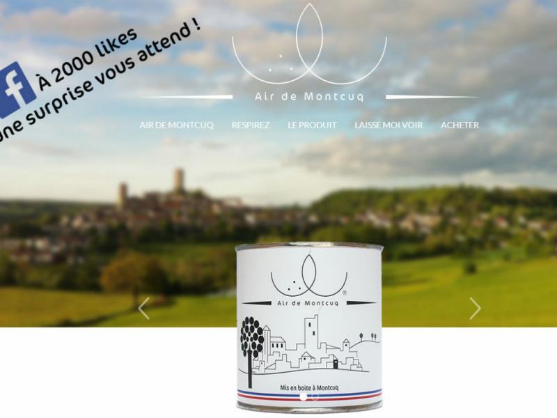 Site vende ar fresco da cidade de Montcuq, na França (Foto:Reprodução/Airdemontcuq)