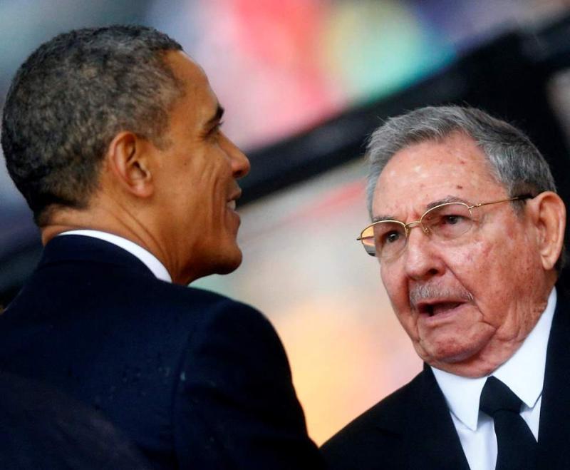 Obama estende a mão a Raul Castro Foto: Reuters