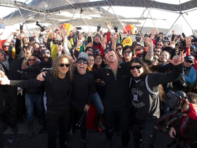 Metallica dão concerto na Antártida (foto: Ross Halfin)