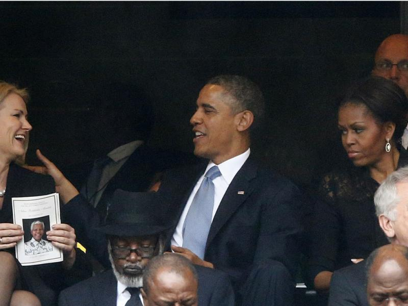 Helle Thorning-Schmidt, Barack e Michelle Obama [Reuters]