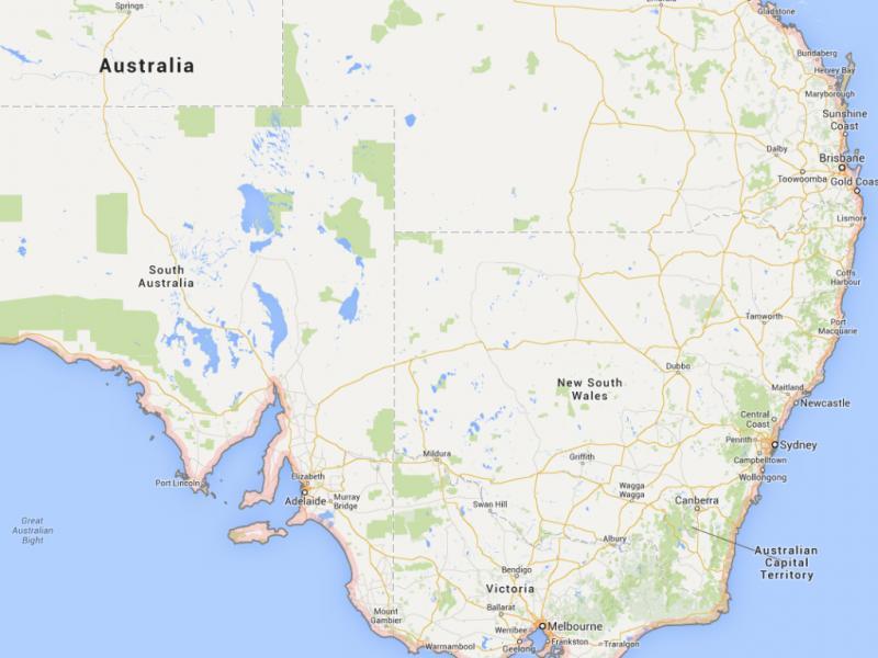 Nova Gales do Sul, Austrália (Reprodução / Google Maps)
