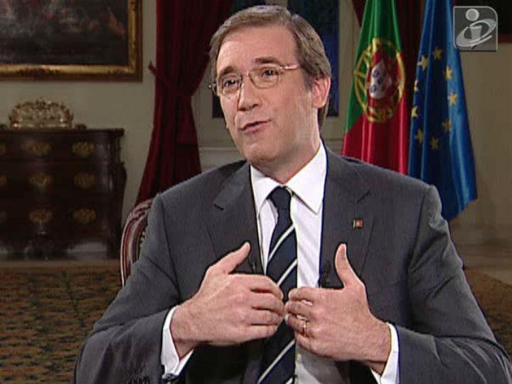 Passos Coelho em entrevista TVI/TSF