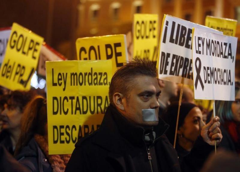 Protestos em Madrid [Reuters]