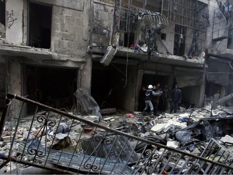 Ataque de regime sírio em Aleppo [Arquivo Reuters]