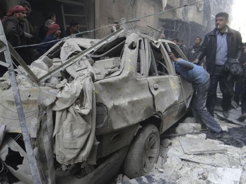 Ataque de regime sírio em Aleppo [Reuters]