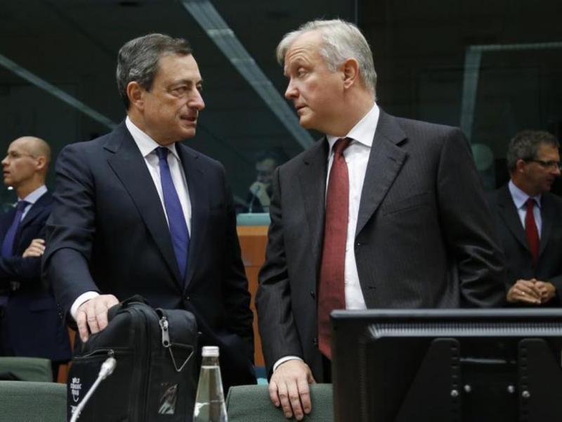 Mario Draghi e Oli Rehn [Reuters]
