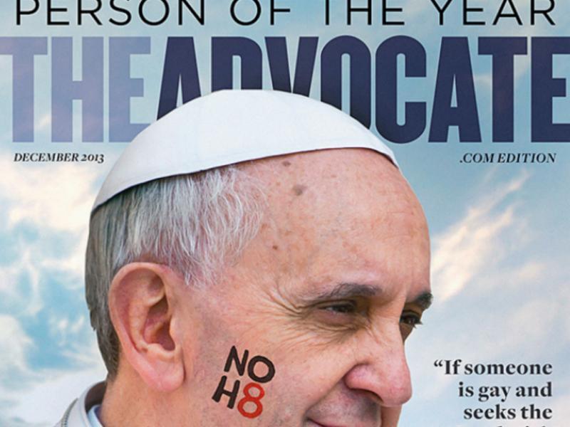 Papa Francisco «personalidade do ano» para a «Advocate» (Reprodução / Advocate.com)