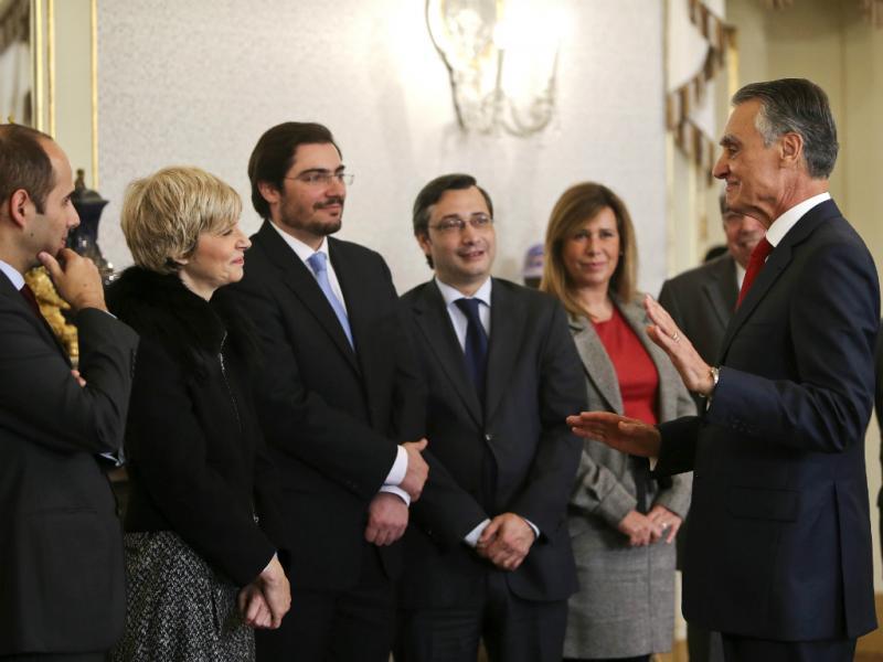 Cavaco Silva recebe cumprimentos dos deputados em Belém (Lusa)