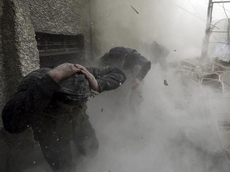 Exército de libertaçao da Síria em combate (REUTERS)