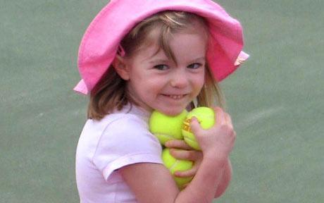 Madeleine McCann, que desapareceu em Maio de 2007. A menina inglesa teria hoje 10 anos.