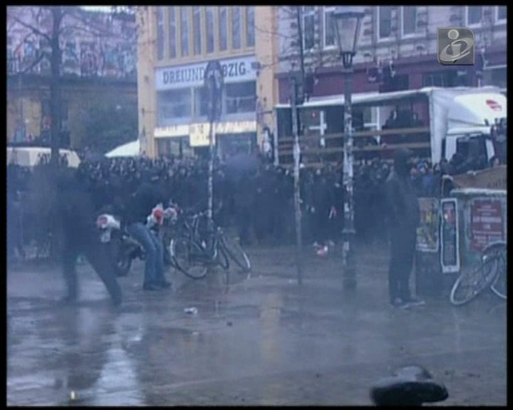 Confrontos em Hamburgo