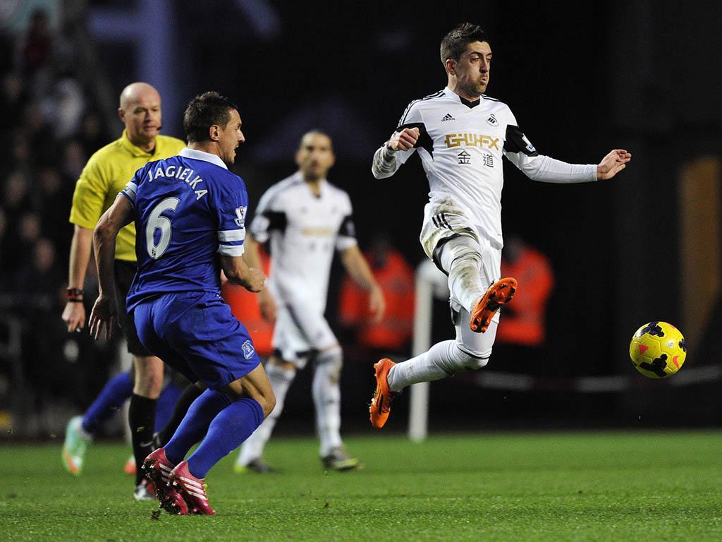 Swansea City vs Everton (REUTERS)