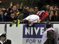 Março: Pazzini, do Milan, festejo em estilo frente à Lazio