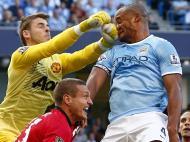 Setembro: momento intenso, digamos, no dérbi entre Manchester City e Manchester United