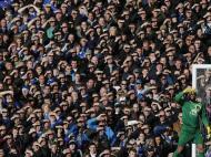 Novembro: grande, grande foto do Everton-Tottenham (há um adepto mais prevenido lá no meio, repare)