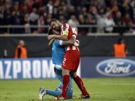 Novembro: Roberto a celebrar a vitória sobre o Benfica na Liga dos Campeões