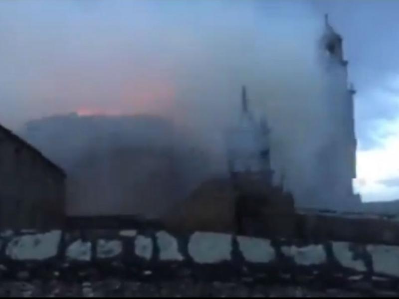 Santuário arde em Espanha