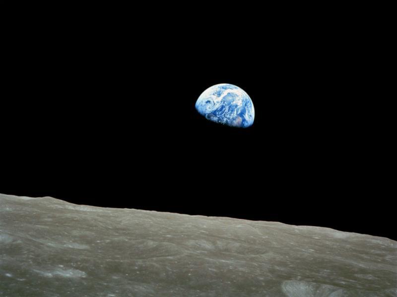 NASA divulga uma foto da Terra tirada da Lua em 1968 (Lusa)