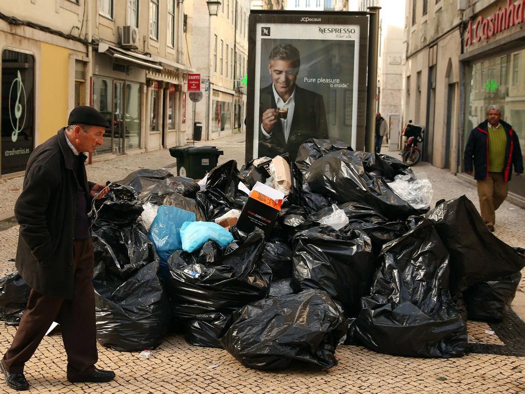 Greve na recolha do lixo em Lisboa (LUSA)