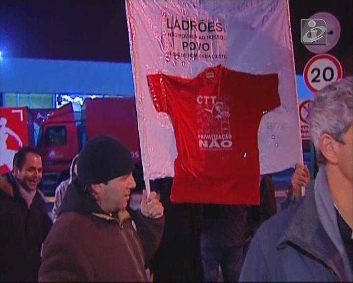 Trabalhadores dos CTT em greve