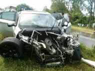 Carro de Iturbe após acidente