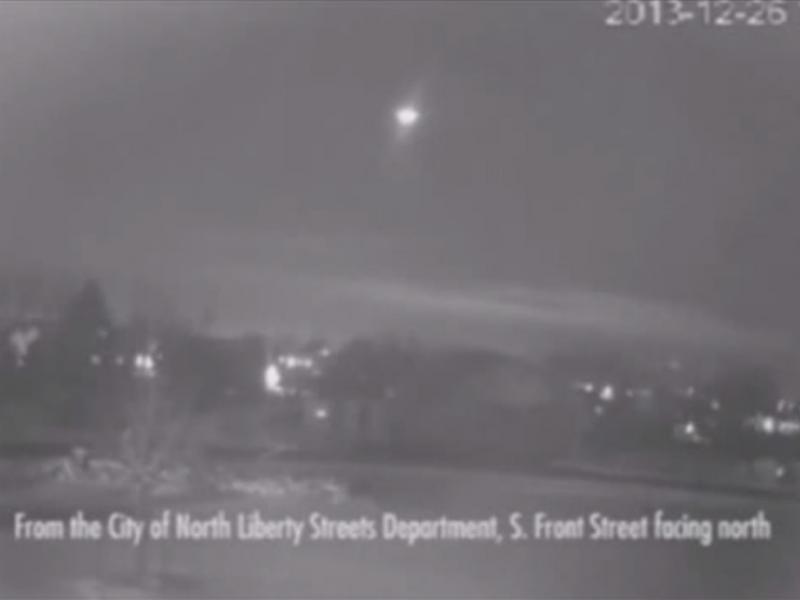 Meteoro avistado no Minnesota (Reprodução / Youtube / Nicklas Dayan)