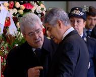 Joaquim Oliveira no funeral de Eusébio